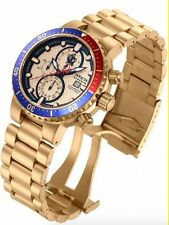 Gold Plated Case Men's Watches with 24-Hour Dial