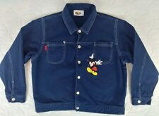 VTG Mickey Stuff for Kids Micky Mouse 100% Cotton Navy Jacket Size 10/11
