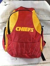 Kansas City KC Chiefs Reebok NFL Backpack Red Black w Gold Lettering - EUC