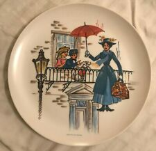 Vintage DISNEY Sun Valley Melmac MARY POPPINS Plastic Plate Made In USA