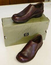 NEW Born Sable 6M/36.5 Loafers Brown Leather Mocs Slip On Low Heel Padded Gores