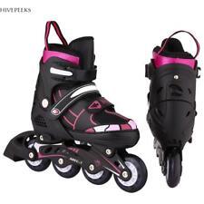 Men Women Inline Skate Rollerblade Roller Blades Boots Adjustable Flash Wheel Us