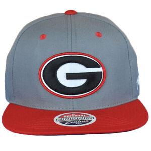 NCAA Zephyr Georgia Bulldogs Two Tone Flat Bill Snapback Men Adjustable Hat Cap