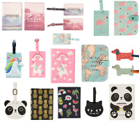 Passport Holder Travel Luggage Tag Suitcase Label ID Childrens Holiday Tags
