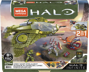 Mega Construx Halo Infinite UNSC Wasp Onslaught 2 in 1 Building Play Set
