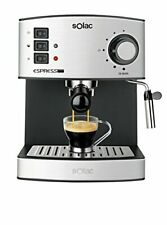 Solac CE4480 Espresso-Cafetera de 19 Bares con vaporizador, 850 (850 W - inox)