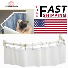 RV Extend A Shower Rod Curtain Liner Camper Motorhome Home Bath White