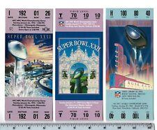 "Complete Set Washington Redskins Super Bowl Full Size REPLICA Tickets 7.5"" x 3"""