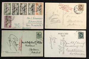 EGYPT 1935 4 x PPC -( SIMON ARZT)-TO HOLLAND --F/VF