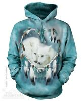 Wolf Heart Sweatshirt Hoodie by The Mountain. Native American Wolves Sizes S-2X