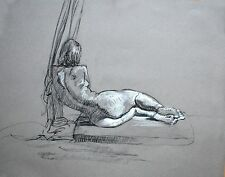 Female Nude Charcoal Life Drawing Keith Gunderson