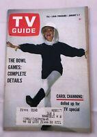 TV GUIDE JAN 1 1966 Carol Channing Ben Casey David Brinkley Football Pitt.