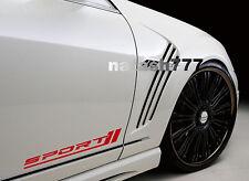 Sport Racing car truck Vinyl Decal sticker emblem Logo RED (Pair)