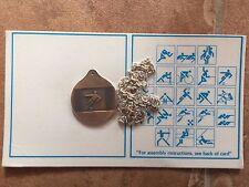 BRONZE MEDAL PENDANT 1976 OLYMPICS SOCCER MONTREAL COMMEMORATIVE