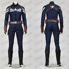 Captain America 2 Steven Rogers Cosplay Costume (Exclude gloves.belt.shoes cover