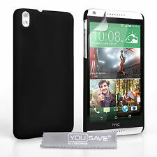 Shock Resistant Executive Black Hybrid Case Cover Skin for the HTC Desire 816 UK
