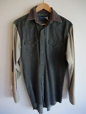 Super Cool VINTAGE Shirt WRANGLER X-LONG TAILS Denim Style Size S