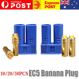 10-30PC EC5 Banana Plug Female Male Gold Connector Socket for AMASS 5mm E-flite