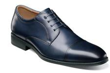 Florsheim Mens Shoes Amelio Cap Toe Oxford Navy Blue 14243-410 Soft Leather