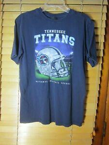 Tennessee Titans NFL Reebok Men's XL Navy Blue Football Helmet Logo Cotton Shirt