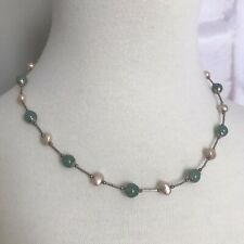 Sterling Silver 925 Colorful Bead  Necklace