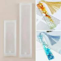 DIY Rectangle Silicone Bookmark Mold Set Making Epoxy Resin Jewelry Mould AU