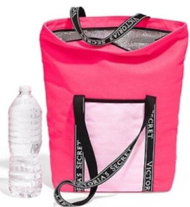 NWT VICTORIA'S SECRET PINK COOLER BAG TRAVEL TOTE LUNCH PICNIC BEACH LARGE BAG
