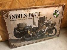 Blechschild - Indien Puch - Max Reisch - 20x30cm geprägt