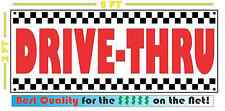 Drive-Thru All Weather Banner Sign Breakfast Lunch & Dinner 50's Resturant Diner
