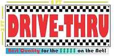 DRIVE-THRU All Weather Banner Sign Breakfast Lunch & Dinner 50's Resturant Diner