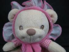 Fisher-Price Baby Girl Pink Rattle Teddy Bear Flower Costume Soft Nursery Plush