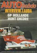 AUTO HEBDO n°27 du 2 Septembre 1976 GP HOLLANDE 1000 LACS LAUDA WATSON
