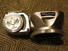 Rolleilux Lens Hood & Light Meter Bayonet 1 w/case for Rolleiflex & similar TLRs