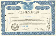 LNC Corporation > Pennsylvania stock certificate share
