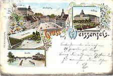 Weissenfels, Farb-Litho, frühe AK, 1895 (!)