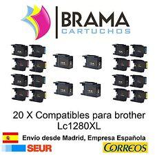 20 x compatibles Brother Non Oem LC1280XL MFC-J6510DW MFC J5910DW MFC J6710