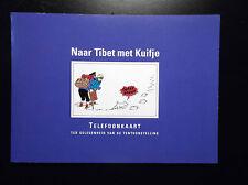 Carte de téléphone Tintin au Tibet ETAT NEUF