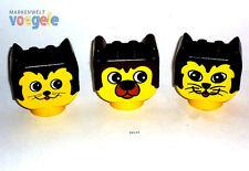 LEGO DUPLO 3 CABEZAS,ANIMALES, gato, perro, Cabeza Top figuras