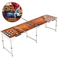 BeerBaller® Beer Pong Tisch ICE | Kühlfach & Becherhalter | Super für den Sommer