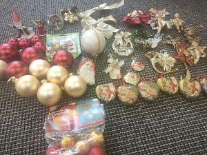 Vintage Christmas Tree Ornaments Lot Mercury Baubles Glass Job bulk