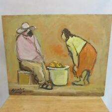 Original Artwork by Mexican Artist Ruben Morales Signed and Dated