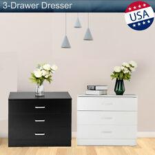 3 Drawer Dresser Chest Wood Modern Bedroom Storage Cabinet Beside Table Organize
