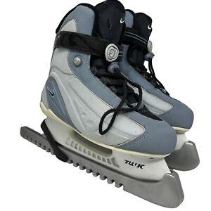 Nike Tuuk Women's 8 Flexposite Ice Hockey Skates Quick Lace Hook Loop
