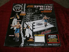 WWE SPRING LOADED MAT STUNT ACTION SPRING RING INCLUDES JOHN CENA & REY MYSTERIO