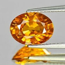 3.25ct Certified Large GOLDEN YELLOW SAPPHIRE 10.1 x 7.6mm IF Clarity