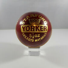 """""""Stanford Yorker - 5-1/2 Oz - Selectd Materias"""" Cricket Ball - Red - New"""