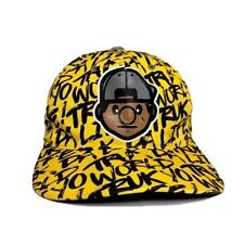 Trukfit Yellow Black Hat Snapback Adjustable Mens Lil Wayne Graffiti Pattern
