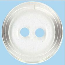 5 Clear Flat 2 Hole Buttons -18mm