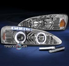 2004-2008 PONTIAC GRAND PRIX HALO LED PROJECTOR HEADLIGHTS LAMP CHROME W/DRL KIT