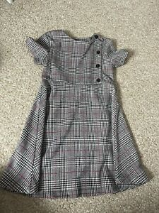 Girls Checked dress Pinafore Age 8